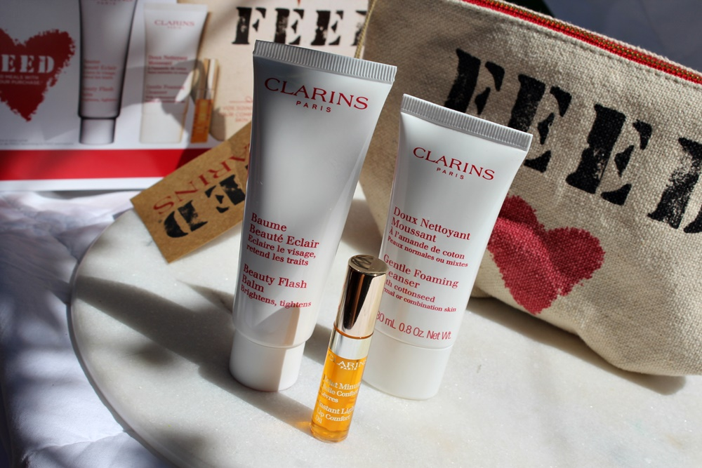 Clarins FEED 10 trousse kate on beauty