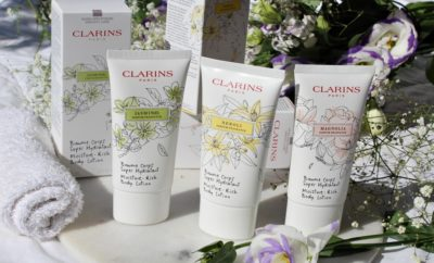 clarins white flowers collection crema corpo mani kate on beauty